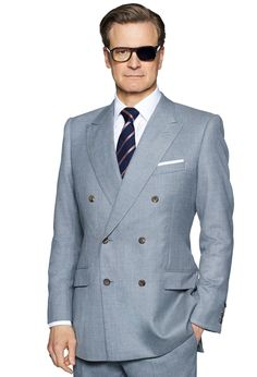Trendy Mens Fashion, Stylish Mens Outfits, Mens Fashion Suits, Kingsman Suits, Kingsman Harry, British Style Men, Designer Suits For Men, Bespoke Suit, Colin Firth