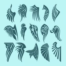 天使の羽根,鳥の翼,タトゥー,トライバル ベクターイラスト素材 Tribal Wings, Posca Art, Photos Hd, Celtic Symbols, Flash Art, Pinstriping, Angel Wings, Art Reference, Illustration Art
