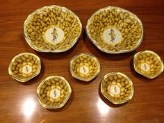 Planter's nut dishes and bowl from 1936 World's fair.
