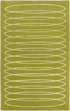 Surya SLB6818 Solid Bold Green Rectangle Area Rug