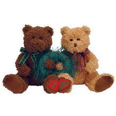 f5ba7153109 Merry Kissmas Retired Ty Beanie Babie Newlywed 1st Christmas Bears Couple  40276 for sale online