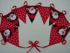 10 meters father christmas and stars christmas bunting