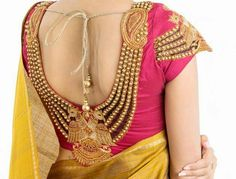 All Ethnic Customization with Hand Embroidery & beautiful Zardosi Art by Expert & Experienced Artist That reflect in Blouse , Lehenga & Sarees Designer creativity that will sunshine You & your Party Worldwide Delivery. Wedding Saree Blouse Designs, Pattu Saree Blouse Designs, Blouse Designs Silk, Blouse Patterns, Wedding Blouses, Choli Designs, Sleeve Designs, Mehndi Designs, Blouse Back Neck Designs