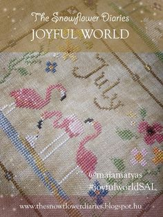 hello my darlings, I am happy to release today the next monthly pattern of my primitive cross stitch calendar, JOYFUL WORLD!:-) Flami...