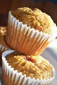 Bakeaholic Mama: Cranberry Pumpkin Muffins