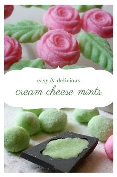 How To Make Cream Cheese Mints - they are easy and delicious! How to make classic cream cheese mints. An easy traditional recipe that makes delicious party mints perfect for a wedding, shower, or celebration. Mint Recipes, Candy Recipes, Cookie Recipes, Dessert Recipes, Cream Cheese Mints, Make Cream Cheese, Cream Cheese Fudge Recipe, Cream Cheeses, How To Make Cream