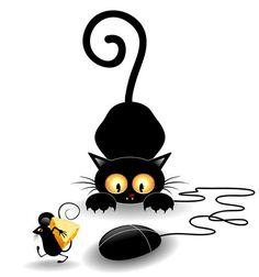 Черные кошки - Векторный клипарт | Black Cat - Stock Vectors