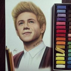 Niall Horan | What an amazing use of pastels! So much detail