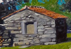 Learn how to paint a stone wall in #acrylics as part of our Landscapes Module coming soon to ArtTutor.
