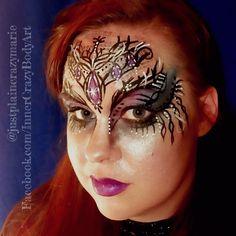 Mystical creatures  Dark Fae Queen  Dark fairy Dark beauty Face painting face paint makeup art Artist - Marie Sulcoski