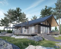 JOARC I ARCHITECTS • Holiday Villas • moderni mökki, summerhouse, Finland