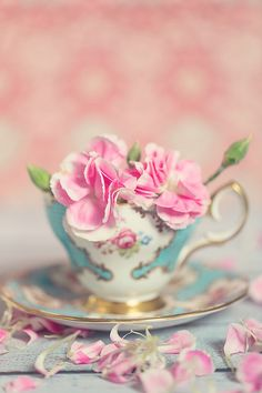 Teacup with Flowers!