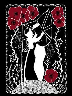 WW1 Commission #WW1 #commission #commemoration #worldwar1 #comradesinarms #illustration #mhairistella #mhairi-stella #art #love #papercut #screenprint #romance #war #poppies #poppy #remember #rememberancesunday