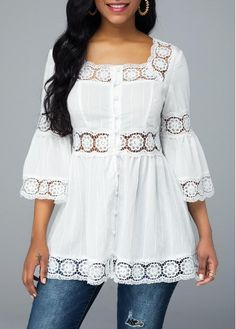 Women Blouse Designs, Women Blouses And Tops, Formal Blouses For Women Page 3 Source by Trendy Tops For Women, Blouses For Women, Blouse Styles, Blouse Designs, Cute White Tops, Formal Blouses, White Blouses, Collar Blouse, Mode Outfits