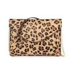 Sac cuir imprimé léopard