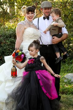 Amazing outfits on everyone... but maybe especially that flower girl!