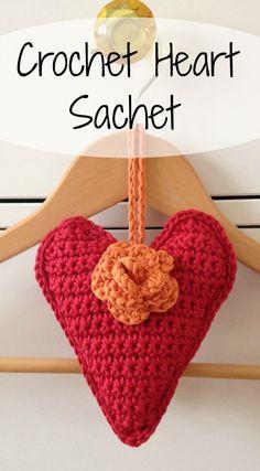 Crochet heart — Sum of their Stories Love Crochet, Thread Crochet, Beautiful Crochet, Crochet Yarn, Crochet Jumpers, Crochet Hearts, Crochet Sachet, Crochet Pincushion, Pincushions