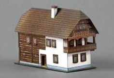 A Czech House Ver.2 Free Building Paper Model Download - http://www.papercraftsquare.com/czech-house-ver-2-free-building-paper-model-download.html#BuildingPaperModel, #Diorama, #House