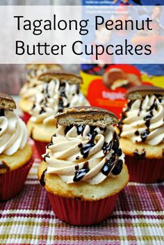 ... craving? Need to tame it? Try these Tagalong Peanut Butter Cupcakes