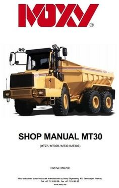 Tractor Manuals & Publications Lovely Moxy Mt36 Series 11 Dumptruck Brochure
