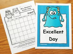 Editable monthly behavior calendars with matching posters and parent letters.