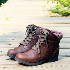 The Mountaineer Sweater Boots in Brown, Sweet & Rugged boots from Spool No.72 | Spool No.72
