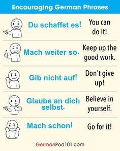 Encouraging German Phrases