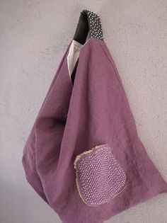 Triangle Bag with a Difference :@ My Bags, Purses And Bags, Bag Quilt, Pochette Diy, Sacs Tote Bags, Origami Bag, Japanese Bag, Diy Sac, Craft Bags