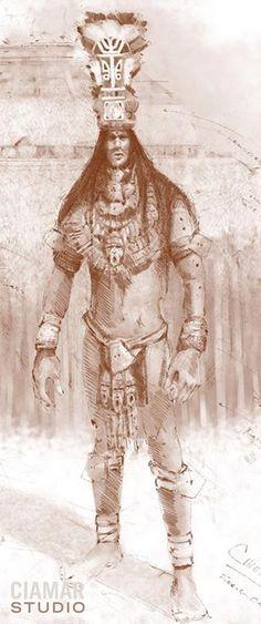 Boceto digital de un antiguo gigante de Florida.