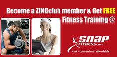 Become a #ZINGclub member Now Start your #Fitness #Training for #FREE! @ #Snapfitness. for more info:http://goo.gl/otyCli