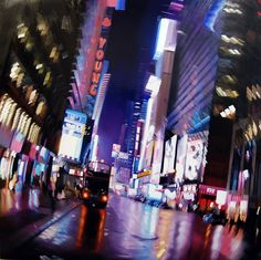 Blurry Night Paintings by Alexandra Pacula