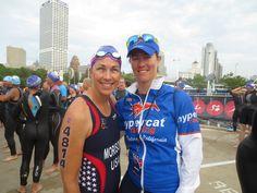 Elaine & Coach Rachel at USA Triathlon Age Group Sprint National Championship in Milwaukee, WI. August 2014.
