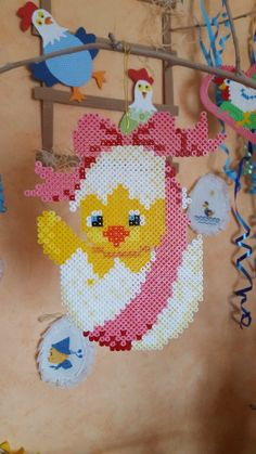Hama Beads Patterns, Beading Patterns, Easter Crafts, Crafts For Kids, Pearler Beads, Some Ideas, Pixel Art, Decoration, Crochet