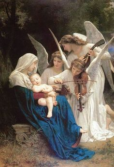 Song of the Angels by William-Adolphe Bouguereau (1825-1905)