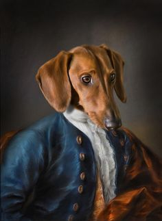 Dog in historic art