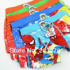 boys shorts cartoon characters boxer short kids brief pantie underwear children pants 24pcs/lot