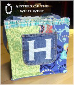 jean diaper bag.  very cute.  i like it.