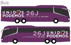Súbete al autobús de la sonrisa.  Súbete a Podemos. #LaSonrisaDeUnPais