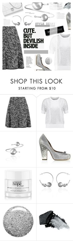 """""""Work Wear"""" by blingsense ❤ liked on Polyvore featuring Giambattista Valli, Alice + Olivia, Tabitha Simmons, philosophy, Patagonia, Topshop and Gorgeous Cosmetics"""