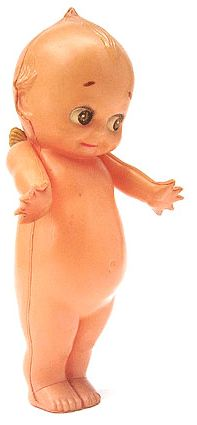 Antique Celluloid Kewpie Doll -- I think I would have to keep this, not borrow it...