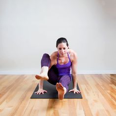 The pose called Eight Crooked Limbs really works your upper body, but this prep pose for it is a killer mov...
