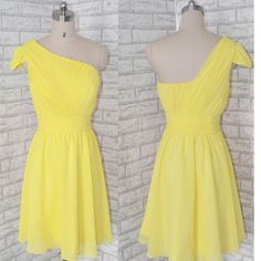 Lovely Mini Prom Dress,Short Prom Gown,Homecoming Dress,Yellow Evening Dress,Party Gown