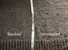 Techniques with Theresa from Knitty: blocking..