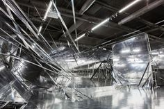 """South Korean artist Lee Bul titled her architectural installation """"Diluvium,"""" a former name for glacial drift"""
