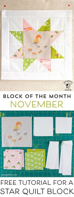 Best Diy Crafts Ideas The November Quilt Block of the Month, a variation of a simple sawtooth star quilt block. Join in the block of the month series and make a quilt one month at a time. Star Quilt Blocks, Star Quilt Patterns, Star Quilts, Pattern Blocks, Block Quilt, Sewing Patterns, Scrappy Quilts, Pattern Ideas, Quilting Tutorials