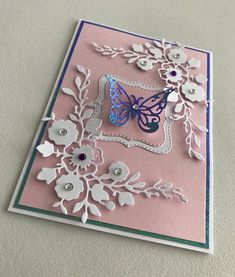 Scrapbook Cards, Scrapbooking, Easy Cards, Die Cut Cards, Butterfly Cards, Silhouette Machine, Mothers Day Cards, Pretty Cards, Atc