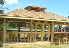 Custom cedar gazebo by Flamborough Patio Garden Structures, Outdoor Structures, Gazebo Curtains, Outdoor Spaces, Deck, Patio, Sunrooms, Backyards, Fences