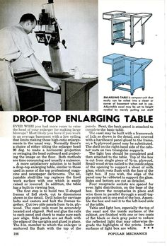Awesome retro article!  Popular Mechanics - Enlarging Table