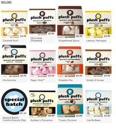 www.plushpuffs.com  So going to have a s'mores bar :)