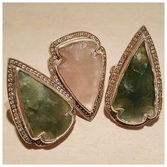 Arrowhead Ring beauties with champagne diamonds xx